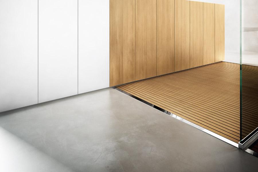 Piatto doccia in acciaio inox steel - Unire due pavimenti diversi ...